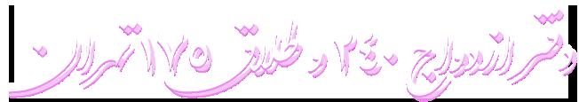 .دفتر ازدواج 240 و طلاق 175 تهران